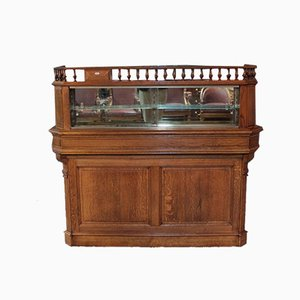 Vintage Oak Pharmacy Counter