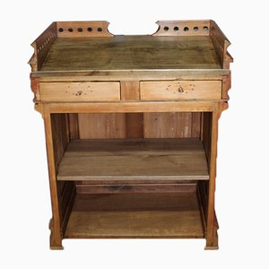 Small Vintage Pinewood Store Counter, 1920s