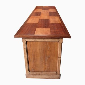 Vintage Oak and Mahogany Store Counter