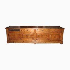 Mostrador de tienda antiguo de madera de pino