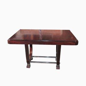 Ausziehbarer Vintage Esstisch aus Mahagoni