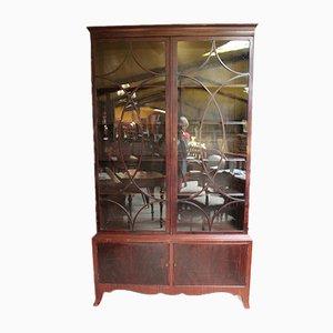 Vintage English Mahogany Veneer Cabinet