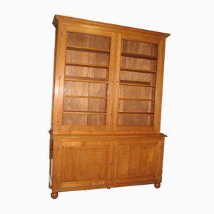Vintage Oak Library Bookcase, 1950s