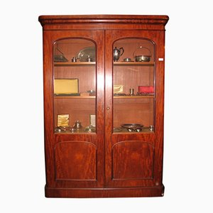 Antique Mahogany Library Bookcase