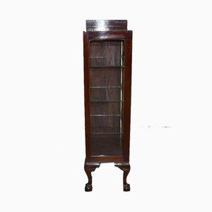 Vintage English Mahogany Veneer Chippendale Display Case