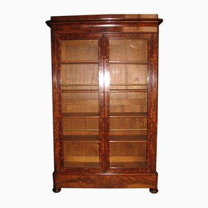 Antique Mahogany Veneer Cabinet, 1830s