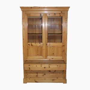 Antique Pinewood Commercial Cabinet