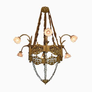 Antique Church Brass Chandelier