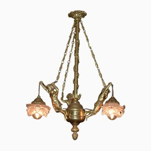 Small Antique Bronze Chandelier