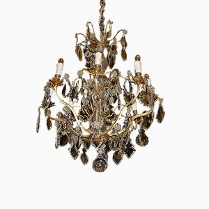 Antique 8-Arm Crystal Chandelier