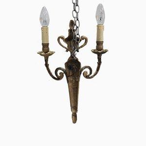 Antique Louis XVI Style Bronze Sconces, Set of 2