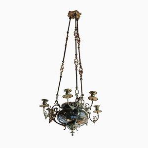 Antique Napoleon III Style Brass Chandelier