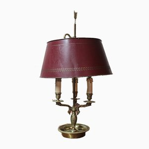 19th Century Bronze and Metal Bouillotte Ceiling Lamp