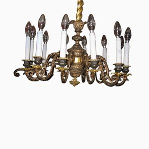 Lustre Antique en Laiton