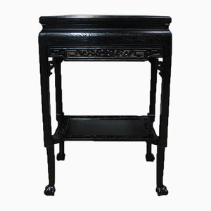 Vintage Blackened Wood Work Table