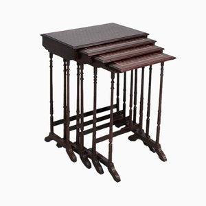 Vintage Rosewood Nesting Tables, 1920s