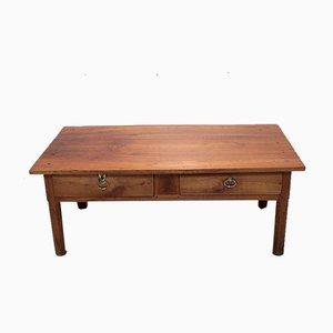 Mesa de centro antigua de cerezo
