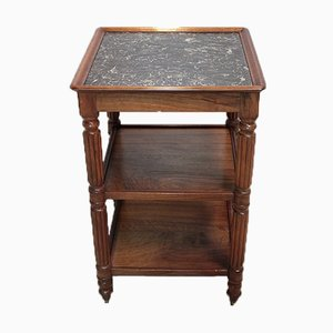 19th Century Walnut and Marble Coffee Table