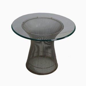 Mid-Century Couchtisch aus Stahl & Glas