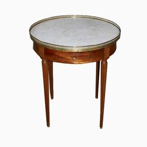 Vintage Louis XVI Bouillotte Tisch aus Mahagoni