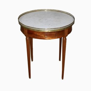 Vintage Louis XVI Style Mahogany Bouillotte Table