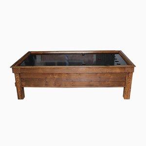 Mesa de billar vintage de roble