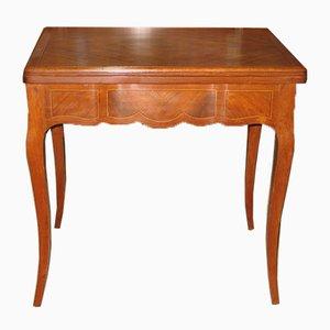 Tavolo da gioco vintage in palissandro e mogano