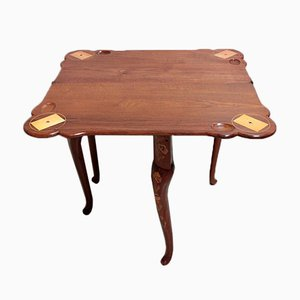 Tavolo da gioco antico in teak