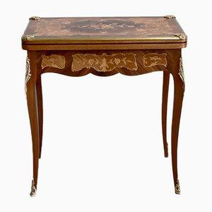 Tavolo da gioco antico in palissandro