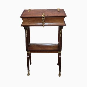 19th Century Mahogany Lyre Shaped Table