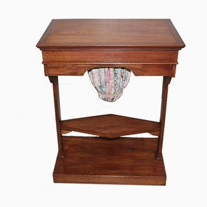 Antique Mahogany and Mahogany Veneer Sewing Table