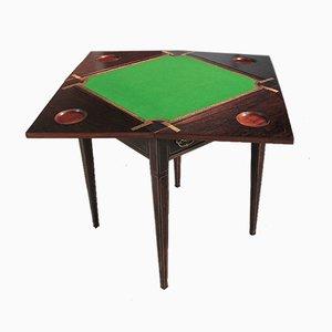 Tavolo da gioco vintage in palissandro