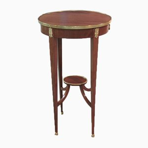 Small Vintage Mahogany and Mahogany Veneer Side Table