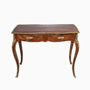 Antique Marquetry Console Table