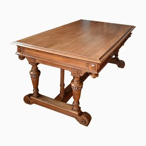 Antique Renaissance Style Walnut Desk, 1900s