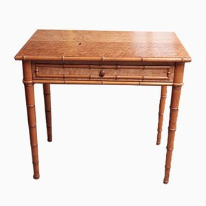 Vintage Maple and Cherry Bamboo Console Table