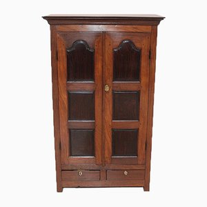 Small Antique Indian Rosewood and Mahogany Spices Cabinet