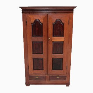 Antique Rosewood and Teak Wardrobe