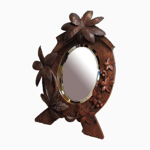 Vintage Walnut-Framed Mirror
