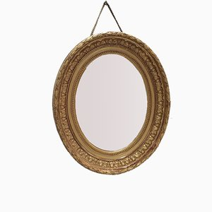 Antique Gilded Frame Oval Mirror