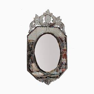 Vintage Italian Octagonal Beveled Mirror