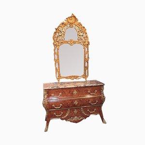 Vintage Louis XV Style Giltwood Mirror
