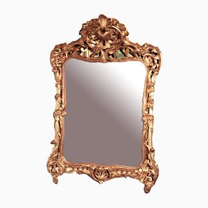Antique Giltwood-Framed Mirror