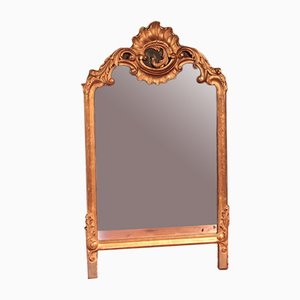 Rectangular Vintage Giltwood-Framed Mirror
