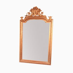Antique Louis Philippe Style Gilded Beveled Mirror