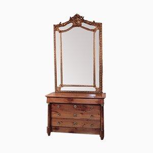 Spiegel mit vergoldetem Holzrahmen, 19. Jh.