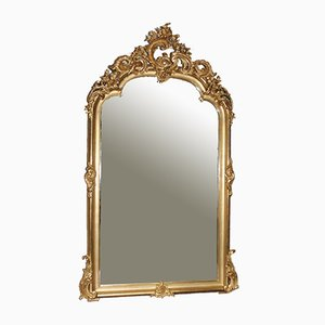 Antique Gold Rocaille Mirror