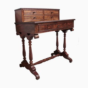 Antique Mahogany Veneer Desk