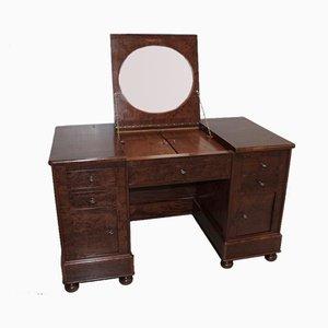 Antiker Schreibtisch aus Mahagoni & Eiche