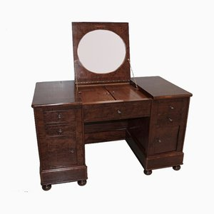 Antique Mahogany and Oak Desk
